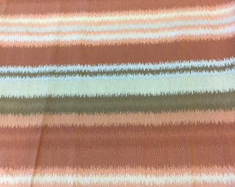 SMD designer curtain fabric in orange and brown stripe by the Metre