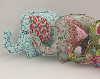 Handmade Family of Elephant soft toys   Free Shipping