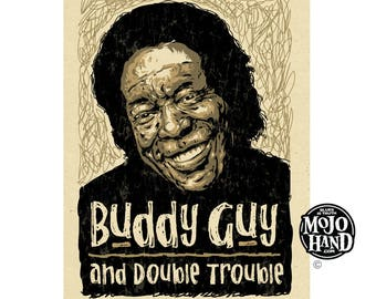 "12""x18"" original concert poster - Buddy Guy with Double trouble - Austin, Texas signed by the artist"