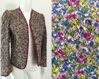 Wearable Floral 1930's Padded Jacket
