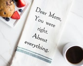 Cadeau pour maman - cuisine drôle serviettes - main drôle serviettes - torchons - torchon - drôle des mères - pour - maman était droit - Chère maman