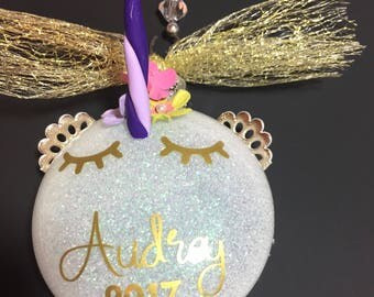 Unicorn ornament - personalized unicorn - unicorn Christmas ornament