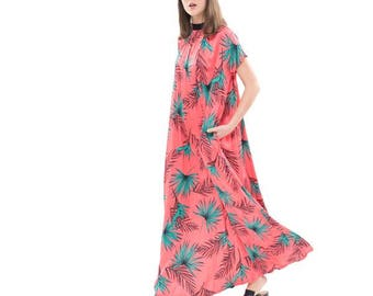 Pink Silky flowing maxi dress