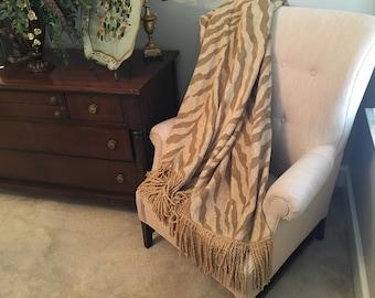 pleasurable designer sofa throws. Jungle Animal Print Throw Blanket  Beige Chenille Throws African Safari Bedding Designer Decor Luxurious and Plush Upscale Blankets by AlexsAttic on Etsy