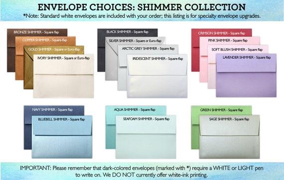 envelope upgrades a7 colored envelopes linen envelopes