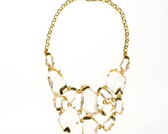 Vintage Kenneth Jay Lane Crystal Statement Necklace