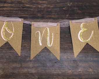 Pumpkin Birthday Banner - First Birthday -ONE highchair banner - Fall Party Decor - Birthday Banner - Babies First Birthday Party