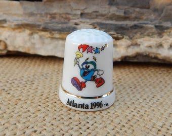 Atlanta 1996 Olympic Thimble  ~  Atlanta 1996 Olympic Souvenir  ~  Olympic Thimble  ~  Olympic Souvenir  ~  Olympic 1996 Porcelain Thimble