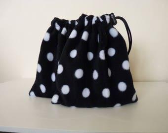 Stirrup Iron Covers - Spots - Black & White