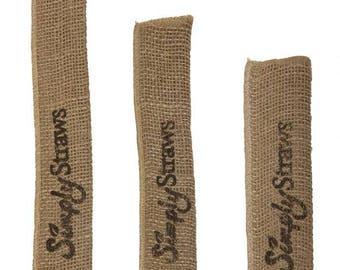 Single straw burlap bag