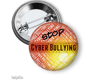 Stop Cyber Bullying pinback button badge or fridge magnet
