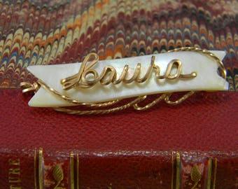 "Vintage Mother of Pearl Brooch Laura ""Laura"""
