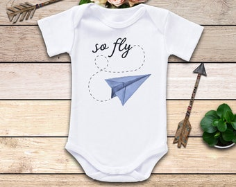 So Fly Onesie®, Airplane Onesie, Funny Onesie, Pilot Baby Onesie, Gender Neutral Onesie, Baby Shower Gift, Cute Baby Clothes