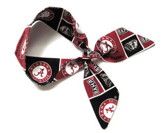 Alabama Scarf, Skinny Scarf, Crimson Tide, Neck Scarf, Purse Scarf, Alabama Football, Alabama Spirit, Alabama Accessories, Ready to Ship