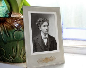 Antique Cabinet Card Photograph Handsome Young Victorian Lad