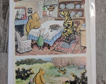 Winnie the Pooh,Full Color Print / Illustration from World of Pooh Book by E. H. Shepard