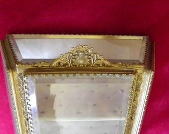 Very Rare Gold Gilt Ormolu Curio Cabinet, Old Hollywood, Regency, Movie Prop
