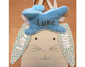Personalized Easter bag w/stuffed animal