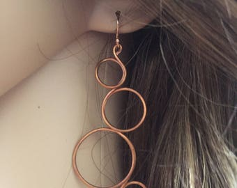Copper Bubbles Earrings