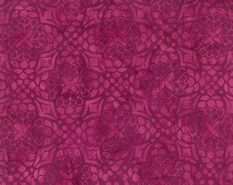 Moda - Longitude Batiks by Kate Spain - Floral Mandala - Magenta