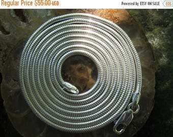 """On Sale Long Chain - 30"""" Silver Chain - Snake Chain - Sterling Silver Chain - 2mm Chain - 30 inch Chain - Long Silver Chain - Wire Wrap"""