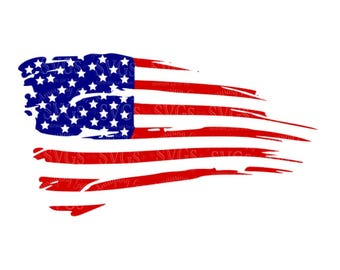 SVG - Distressed American Flag - US Flag - Flag Decor - Patriotic - 4th of July - Stars and Stripes - American Flag - Rustic Flag - Cricut
