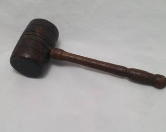 Vintage Wood Judge's Gavel - Law and Order, Justice, Judgement Day