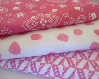 FREE SHIPPING - Quilting Fabric Bundle - Quilting Fabric by the Yard - 1/2 Yd Each - Total of 1.5 Yards