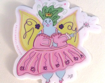 Magical Fat Fairy Vinyl Die Cut Sticker