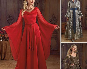 Misses' Fantasy Costumes Simplicity Pattern 1045-  Sizes 14-20