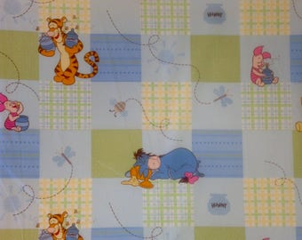 Winnie the Pooh, piglet, tigger, Eeyore fabric, Pooh bear quilt fabric, hunny pots, Vintage Winnie the Pooh Quilt Fabric by the yard