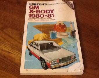 Chitons Car Repair Guide 1980 1981 GM X Body
