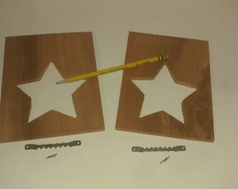 Picture Frame Star & Heart