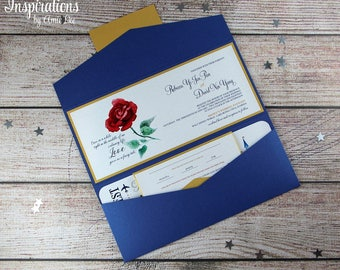 Beauty and the Beast Wedding Invitations, Disney Wedding