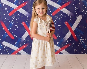 "5ft x 5ft + Photography Backdrop - Fourth of July Backdrop, 4th of July Background, Patriotic, Memorial Day, ""Let Freedom Ring"""