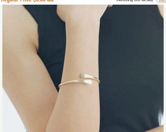 ON SALE Gold open cuff bracelet - stacking cuff