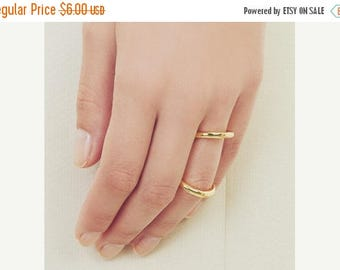 ON SALE Gold double ring - stacking ring
