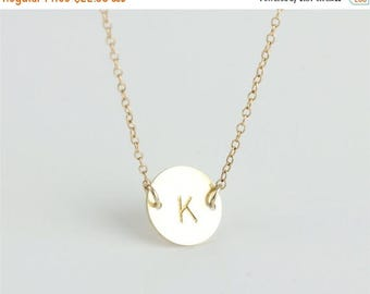 ON SALE Personalized jewelry - Delicate simple everyday initial tag necklace