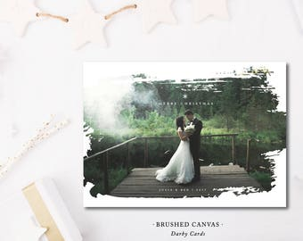 Brushed Canvas Holiday Cards