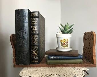 Vintage Carved Wooden Book Holder