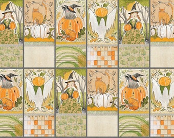 Cori Dantini - Best Day Ever Panel - Small Patches - I Love Pumpkins (112.116.02.1) - 1 Panel (24x44)