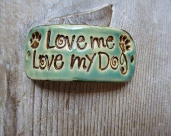 Love Me Love My Dogs Bracelet for jewelry making
