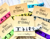 Gymnastics Birthday Party Favors | PERSONALIZED Birthday Hair Tie Favors | Birthday Hair Ties | Birthday Favors | Gymnastics Birthday party