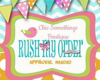 RUSH ORDER FEE, 25