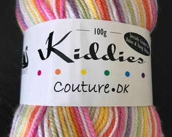 Cygnet Yarn - Kiddies Couture DK - 100gm - Lolly Stripe