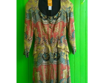 Beautiful Vintage 1980s Christian LaCroix Fitted Tapestry Dress Jacket Rare