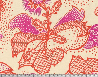 True Colors by Anna Maria Horner for Free Spirit - Filigree - Coral - 1/2 yard cotton quilt fabric
