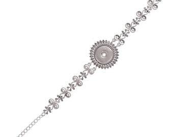 """1 Rhinestone Bracelet - 7-8.75"""" FITS 18MM Candy Snap Charm Jewelry Silver KC0713 CJ0832"""