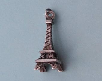 Eiffel Tower Charm. Vintage Paris Bracelet Charm or Pendant.