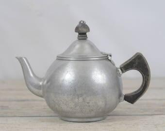 Vintage/Antique Priscilla Ware Aluminum Teapot  Vintage Country French Decor